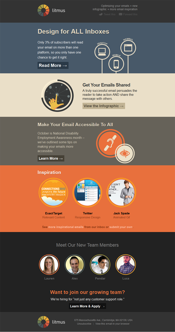 24 Awesome Html Email Newsletters Beautiful Email Newsletters