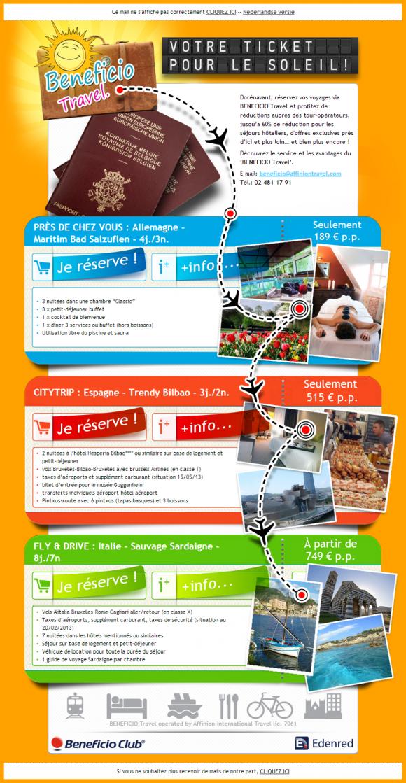 Beneficio Travel June 2013 Beautiful Email Newsletters