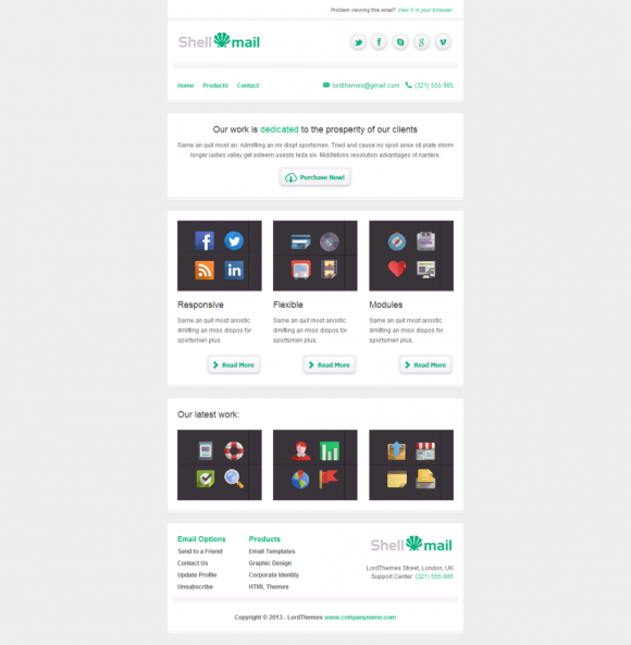 Two Column Archives Beautiful Email Newsletters - Two column responsive email template