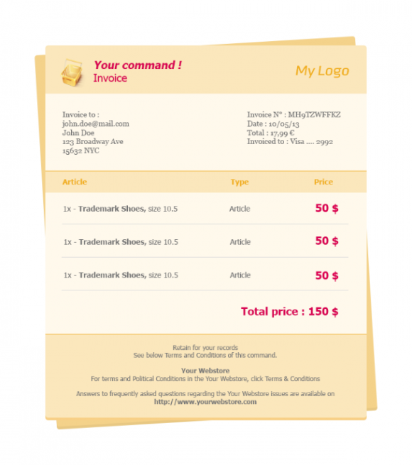 invoice # 1 - email template - beautiful email newsletters, Invoice templates
