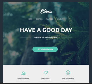 Elena - Responsive Email Template - Beautiful Email Newsletters