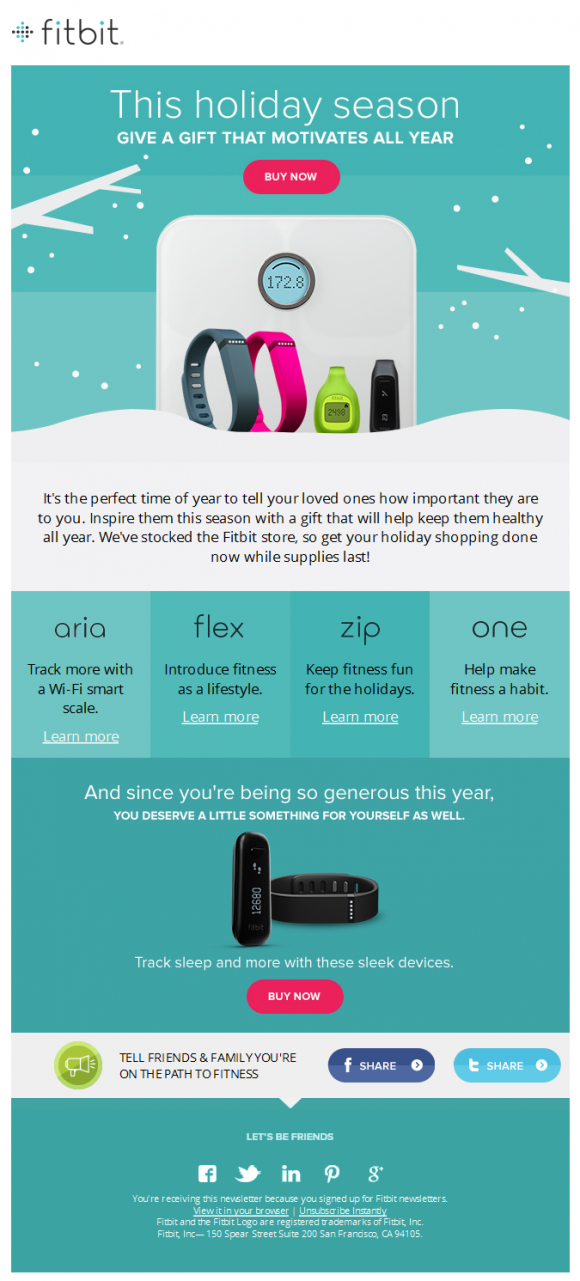 Fitbit newsletter beautiful email newsletters for Beautiful newsletter design