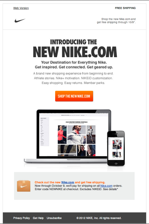 Nike Newsletter Beautiful Email Newsletters