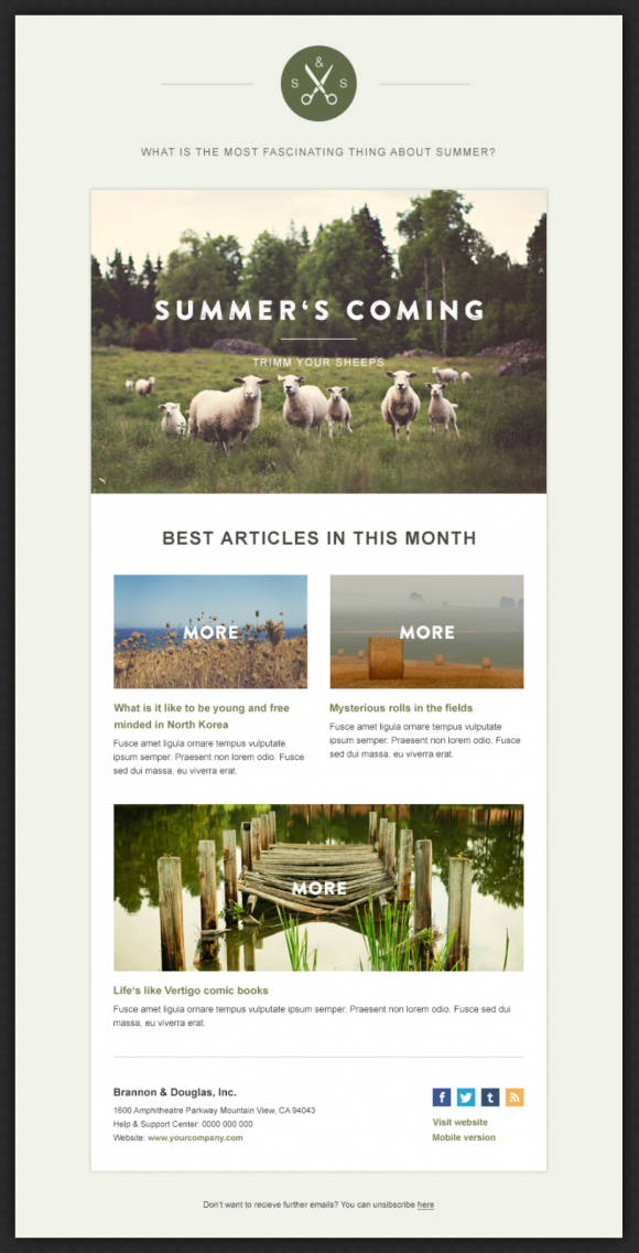 green village newsletter beautiful email newsletters On beautiful newsletter design