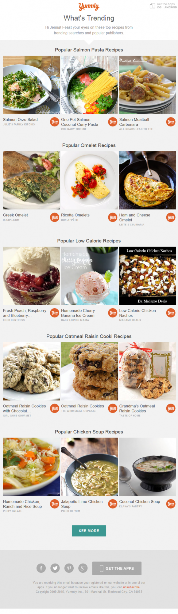 Trending recipes on yummly beautiful email newsletters trending recipes on yummly forumfinder Image collections