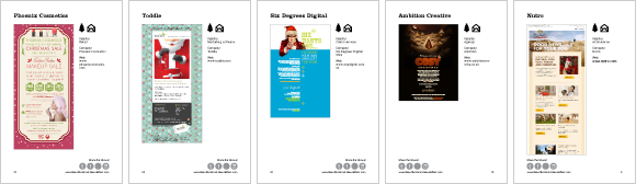Christmas email newsletters page samples